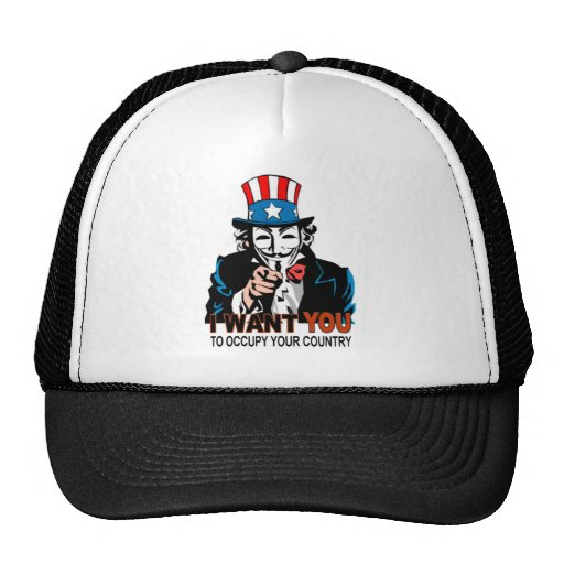 Uncle V Occupy Wall Street Trucker Hat