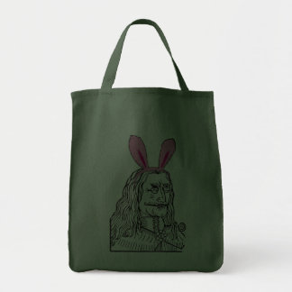 Uncle Vlad with bunny ears Canvas Bags