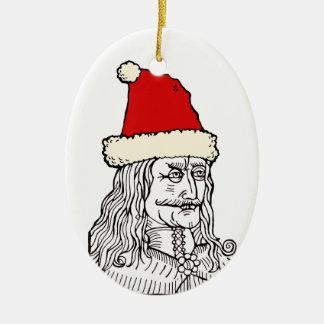 Uncle Vlad's Christmas Ceramic Oval Decoration