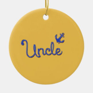 Uncle with Anchor Christmas Ornament