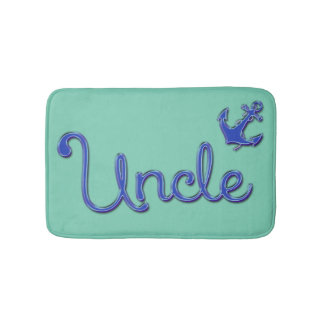 Uncle with Anchor Bath Mats