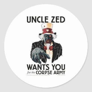 Uncle Zed Sheet of Stickers