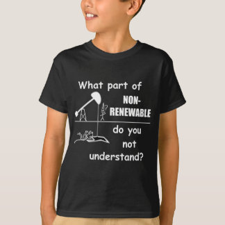 Unclear on the concept of renewable energy? T-Shirt