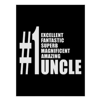 Uncles Birthdays Gifts : Number One Uncle Print