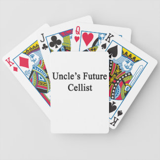 Uncle's Future Cellist Bicycle Poker Deck