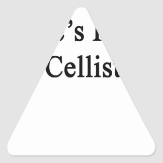 Uncle's Future Cellist Triangle Sticker