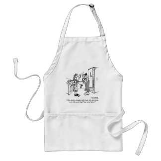 Unclog a Drain With Bran Adult Apron