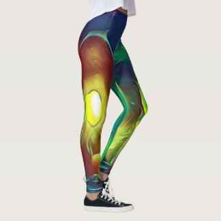 Uncommon Funky Multi-Color  Artistic Wine Bottles Leggings