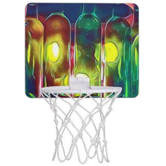 Uncommon Funky Multi-Color  Artistic Wine Bottles Mini Basketball Hoop