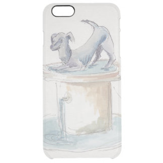 "Uncommon IPhone 6/6s Clear ""Watercolor Dog/London"" Clear iPhone 6 Plus Case"