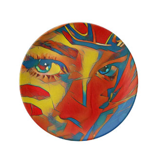 Uncommon Vibrant Artistic Facial Eyes Plate