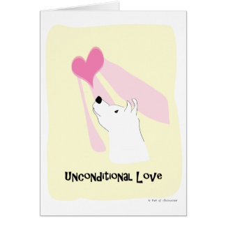 Unconditional Love Dog - Paw of Attraction Card