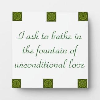 Unconditional Love- Heart Chakra Plaque