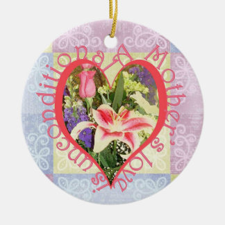 Unconditional Love Heart Round Ceramic Decoration