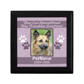 Unconditional Love Pet Sympathy Custom Gift Box