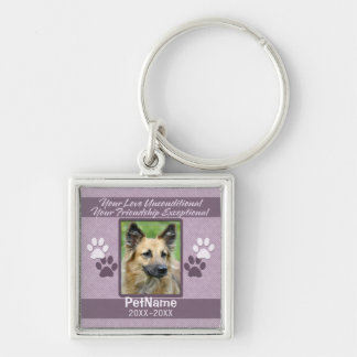Unconditional Love Pet Sympathy Custom Key Ring