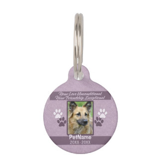 Unconditional Love Pet Sympathy Custom Pet ID Tag