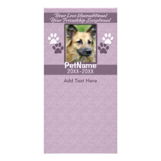 Unconditional Love Pet Sympathy Custom Photo Card