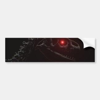 Undead Dinosaur Bumper Sticker