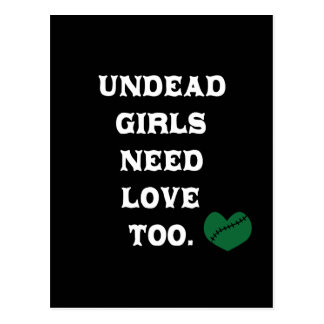 Undead Girls Need Love Too Postcards