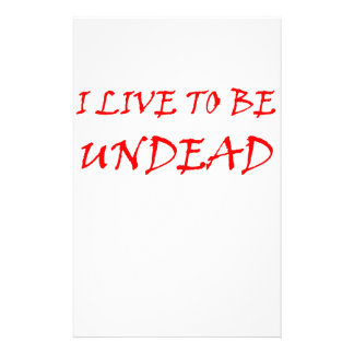 Undead (red) stationery