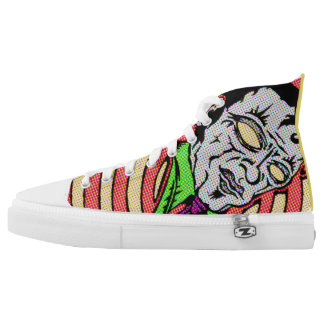 Undead Rockabilly Kicks Printed Shoes
