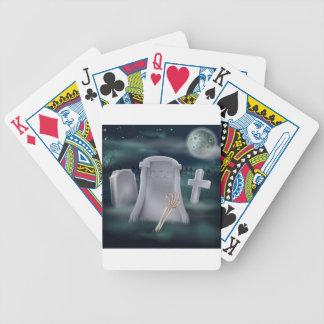Undead skeleton hand grave deck of cards