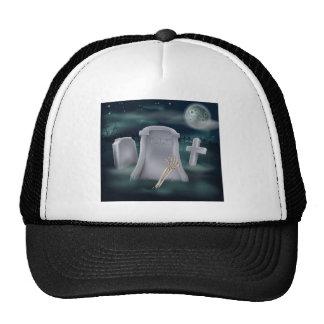Undead skeleton hand grave trucker hats