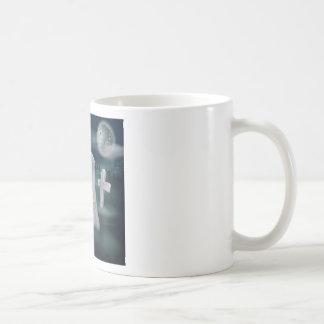 Undead skeleton hand grave coffee mug