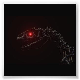 Undead Zombie Dinosaur Skeleton Art Photo