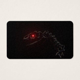 Undead Zombie Dinosaur Skeleton Business Card