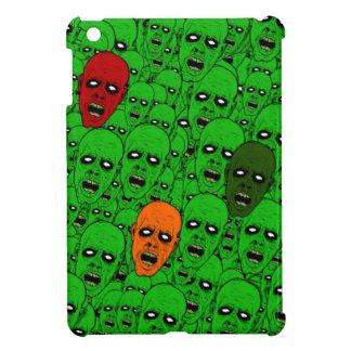Undead Zombie Heads, glowing eyes, gnashing teeth iPad Mini Cases