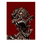 Undead Zombie's Anguished Rotten Flesh Cry Postcard