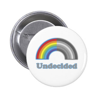 Undecided Rainbow 6 Cm Round Badge