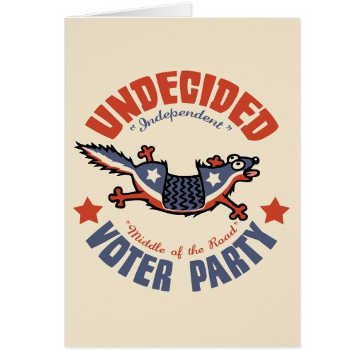 Undecided Voter Party Mascot Cards