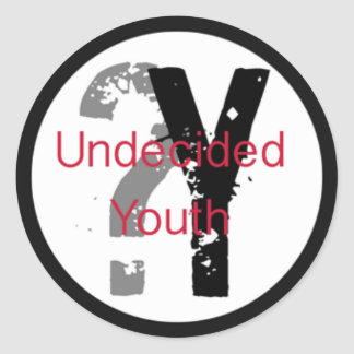 Undecided Youth Stickers (3 inch)