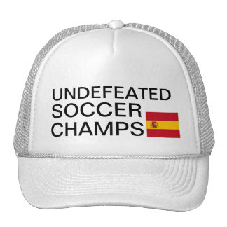Undefeated Soccer Champs Spain Hat