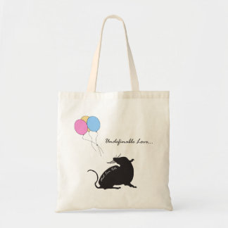 Undefinable Love Ratty Tote Bags