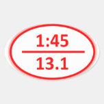 Under 1:45 for a Half Sticker