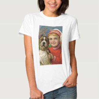 Under $20: Christmas Boy and His Faithful Dog Shirts