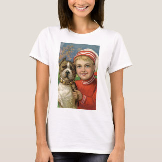 Under $20: Christmas Boy and His Faithful Dog T-Shirt