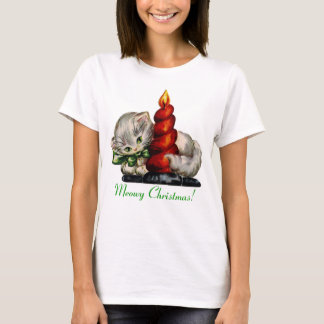 Under $20: Meowy Christmas Retro Kitten T-Shirt