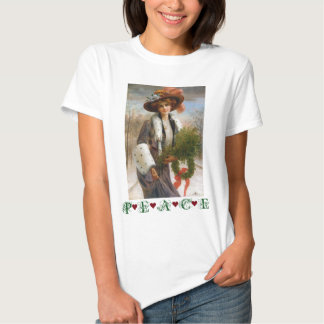 Under $20: Victorian Lady Christmas Peace T-shirts