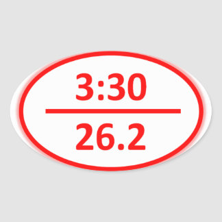 Under 3:30 for a Marathon Oval Sticker