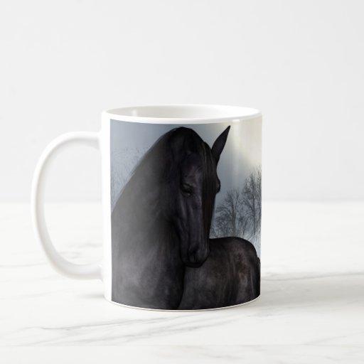 """Under A Winters Moon"" Equine Horse Mug"