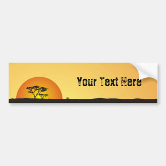 Under African skies: Africa Sunset Bumper Sticker