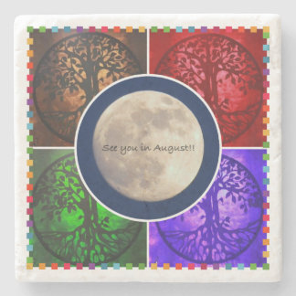 Under August Skies... Stone Beverage Coaster