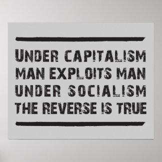 Under Capitalism Man Exploits Man Posters