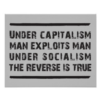 Under Capitalism Man Exploits Man... Posters