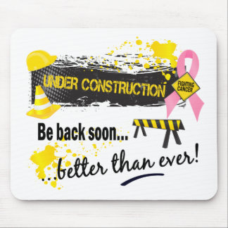Under Construction Breast Cancer Mouse Mat
